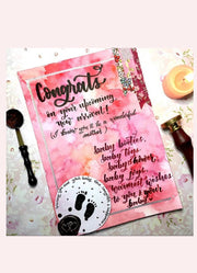 Personalised Calligraphy E-Note