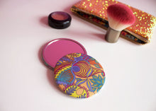 Orange Tropical Pattern Pocket Mirror