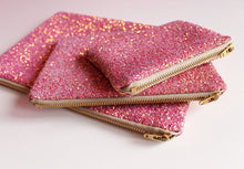 Pink & Rose Gold Glitter Makeup Bag