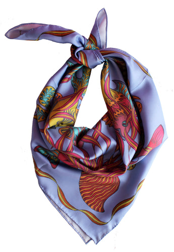 'Wishes In The Sea' Silk Scarf
