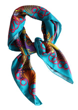 'The Sea Garden' Silk Scarf