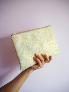 pastel yellow evening bag
