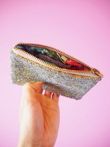 Rust Gold Glitter Coin Purse