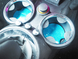 Blue Rainbow Glitter Cup Holder Inserts