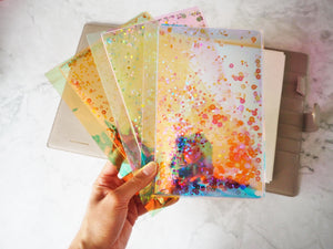 sparkly holographic stationery