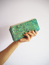 Glitter Sunglasses Case in Mermaid Green