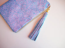 sparkly blue bag charm