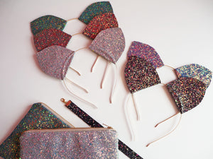 glitter cat ears for fancy dress