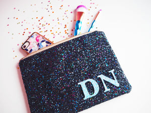 Monogram Glitter Clutch Bag