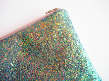 Mermaid Green Glitter Makeup Bag