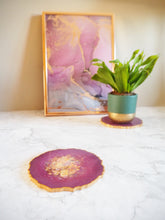 berry purple geode placemat set