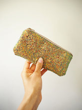 Glitter Sunglasses Case in Rust Gold