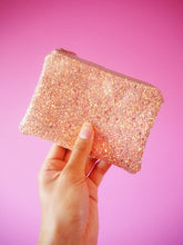 Bubblegum Pink Glitter Coin Purse