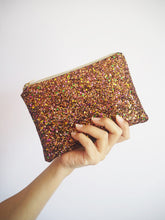 Brown Glitter Makeup Bag
