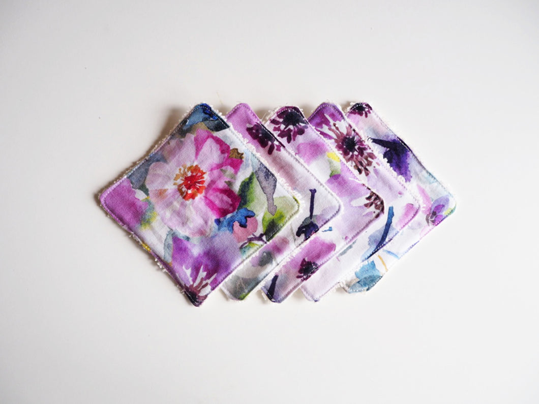 floral print washable cotton pads