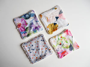 Floral Print Cotton Reusable Makeup Pads