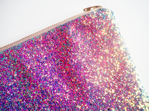 Night Sky Glitter Clutch Bag