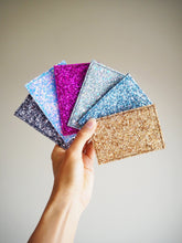 Fuchsia Glitter Card Holder