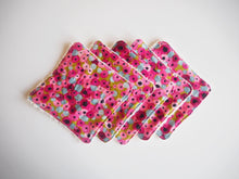 Pink Floral Print Cotton Reusable Makeup Wipes