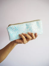 glitter sunglasses case in white iridescent