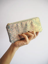 grey & rose gold glitter sunglasses case