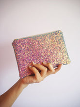 Purple Rainbow Glitter Makeup Bag