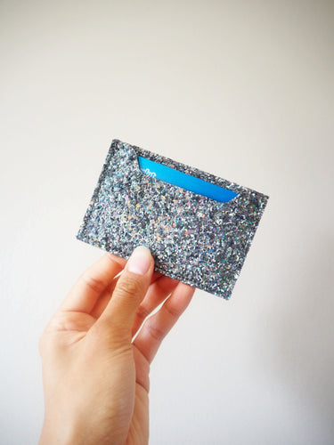 Sparkly Khaki Iridescent Card Holder