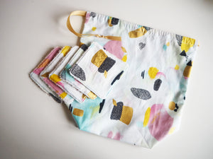 Reusable Drawstring Pouch