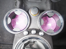 sparkly pink car coasters