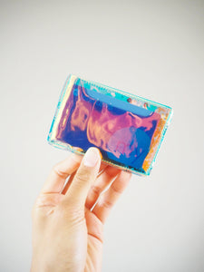 holographic vinyl card holder