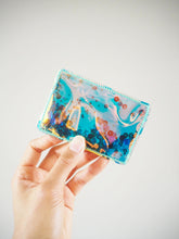 Holographic Green Vinyl Card Holder