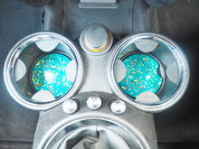 turquoise rainbow car cup holders