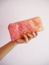 sparkly pink sunglasses case