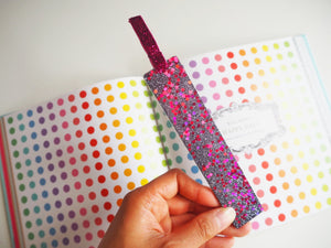 Silver & Pink Glitter Bookmark