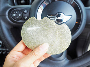 Champagne Glitter Car Cup Holder - 7.3cm