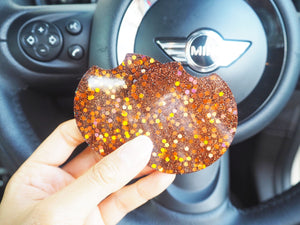 copper glitter car coasters