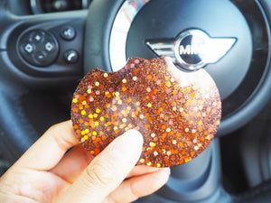 sparkly bronze car cup holders