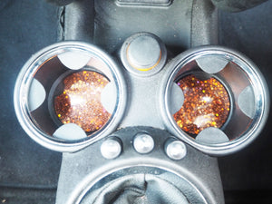 copper glitter cup holders