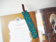 Sparkly Turquoise Resin Bookmark