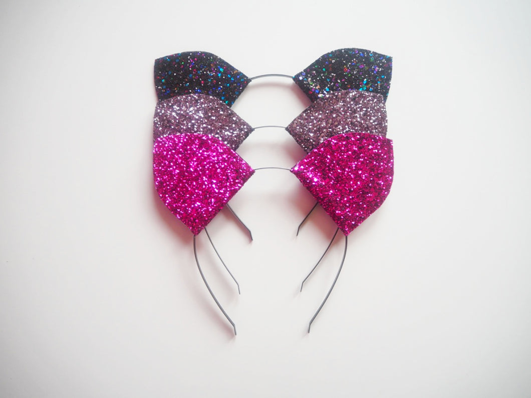 sparkly cat ear headband