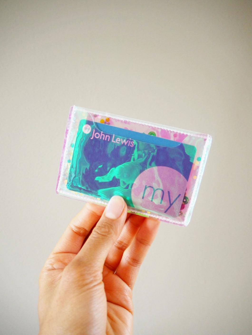 Pink Holographic Vinyl Card Case