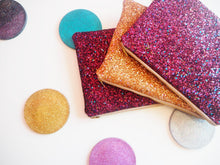 Berry Glitter Clutch Bag