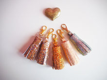 rose gold tassel keychain