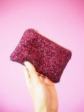 sparkly pink coin purse