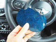 blue glitter car coasters