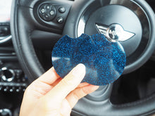 blue glitter car coaster set
