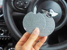 silver holographic car coasters
