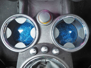sparkly blue car accessories