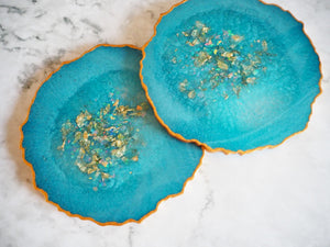blue geode placemat set