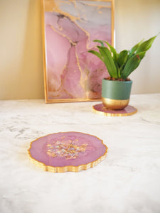 geode style coasters for home